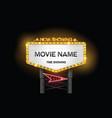 light sign billboard cinema vector image vector image