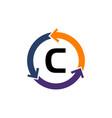 management process letter c vector image vector image