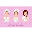 Massage For Face Set vector image