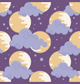 moon in clouds pattern for chinese mid autumn vector image vector image