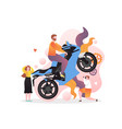 motorbike show concept for web banner vector image vector image
