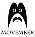 Movember - man with a mustache and a mask vector image