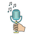 music microphone cartoon vector image