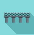 old railroad bridge icon flat style vector image