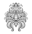 Ornate paisley floral element vector image vector image