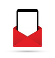 phone tablet in an envelope vector image vector image