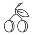 plum icon peach icon apricot icon fruits icons vector image vector image