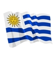 political waving flag of uruguay vector image vector image