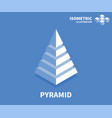 pyramid icon isometric template for web design vector image vector image