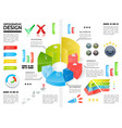 realistic colorful infographic template vector image vector image
