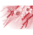 Red Floral Background vector image