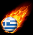 Round glossy icon of greece vector image vector image
