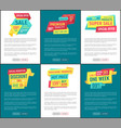 sale special offer posters vector image vector image