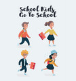 school children cartoon vector image