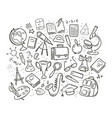 school education concept hand drawn vector image