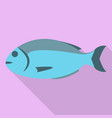 sea fish icon flat style vector image