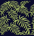seamless pattern tropical leaves background vector image vector image