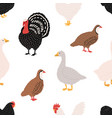 seamless pattern with domestic birds or farm vector image