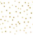 Seamless scattered shiny golden glitter polka dot vector image vector image
