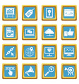 seo icons azure vector image vector image
