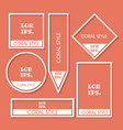 set flat labels paper tags promotion banners vector image