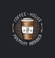 set of coffee logos modern vintage elements for vector image vector image