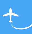 silhouette of a passenger plane vector image vector image