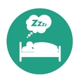 sleeping person design vector image