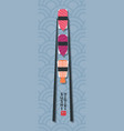 sushi nigiri logo restaurant emblem japanese vector image vector image