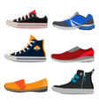 teenage sports shoes colorful sneakers at vector image vector image