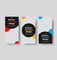 templates for vertical web banners with a black vector image vector image