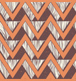 tribal zigzag seamless pattern vector image