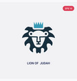 two color lion judah icon from religion-2 vector image vector image