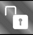 unlock sign icon hole in vector image