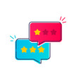 user experience customer review bubble icon vector image