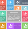Windsurfing icon sign Set of multicolored buttons vector image vector image