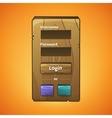 wooden menu vector image vector image