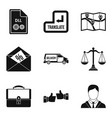 work paper icons set simple style vector image vector image