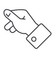 keeping hand line icon sign vector image
