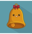bell christmas character icon vector image