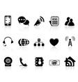Black Social Media icons set vector image