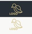 luxury bird logo vector image