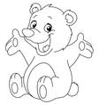 outlined happy teddy bear vector image