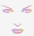 woman beautiful face vector image