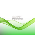 abstract horizontal green wave background vector image vector image
