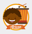 african kid vector image vector image