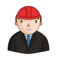Architect icon in cartoon style isolated on white vector image