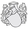 aristocratic emblem No8 vector image vector image