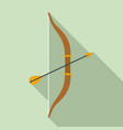 arrow bow icon flat style vector image vector image