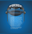 Background of Police protect mask vector image vector image